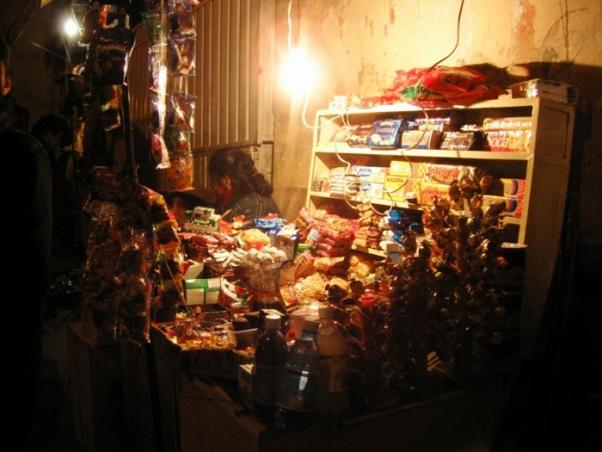 夜の露店/ボリビア、ポトシ